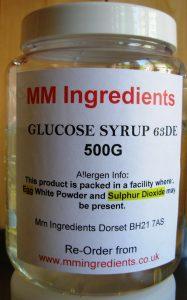 A bottle of 63DE glucose syrup