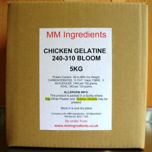 A box of Chicken gelatine 5Kg